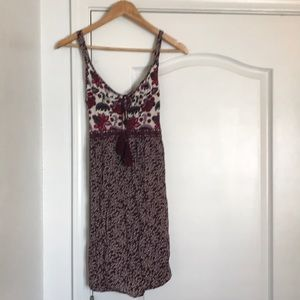 Maurices tank dress, boho floral design size small